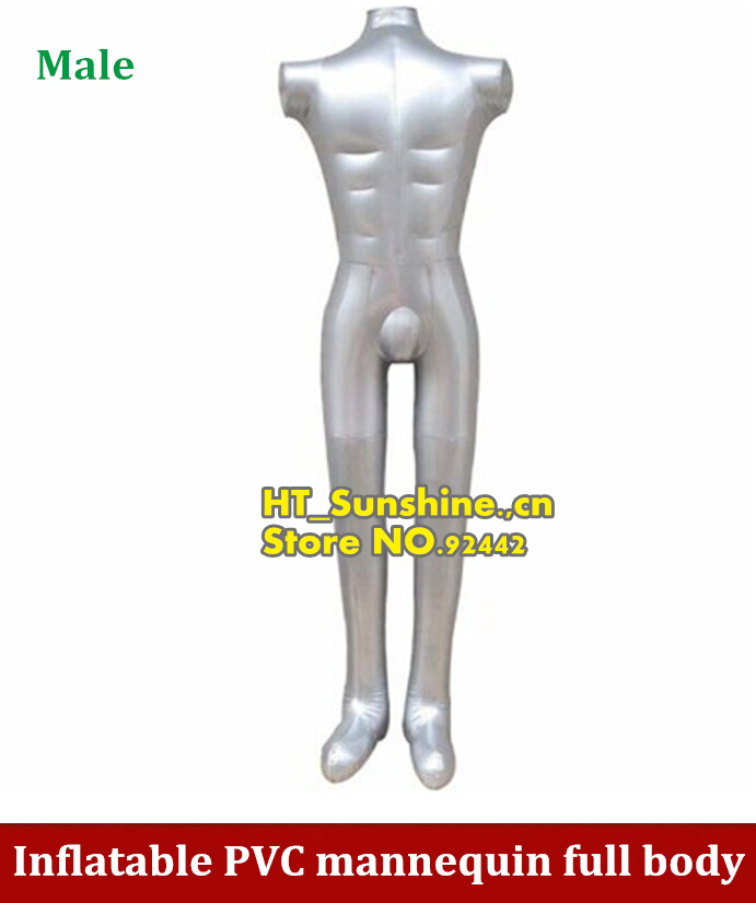 NEW PVC Plastic Man Inflatable Model Dummy Torso Body Mannequin Male Armless Display 2pcs new female woman half body top shirt display inflatable mannequin dummy torso model free shipping