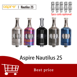 Aspire Nautilus 2s tank 2.6ml/2ml Vaporizer Atomizer Top filling Nautilus 2s MTL tank use Nautilus bvc coils vs nautilus 2 tank