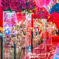 4PCS/lot Acrylic Clear Road Lead Flower Stand wedding column pillar Ornaments for Wedding Party Exhibition Arrangement