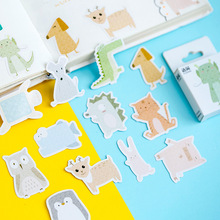 50pcs/box kawaii Animal Collection Decorative Stickers Adhesive DIY Decoration Diary Stationery Children Gift