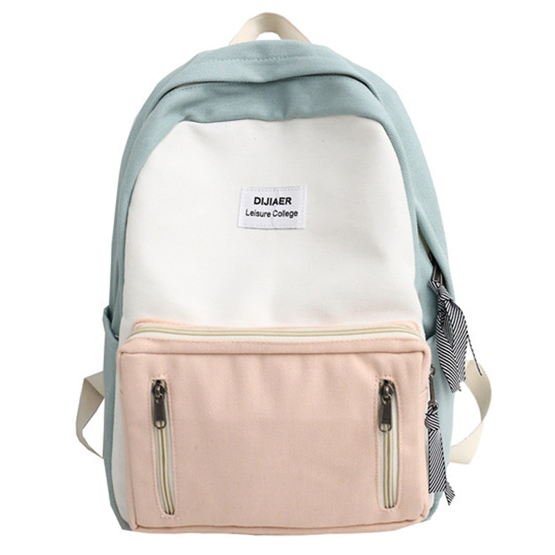JOYPESSIE Fashion Korean Simple Cotton Backpack For Teenagers Travel Bagpack Satchels Rucksack Male Female School Backpack