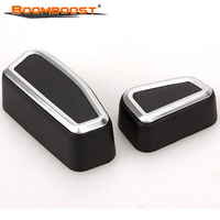 4pcs Car Interior Stylings BoomBoost Front Seat Adjustment Switch Cover For 2011 2015 Jeep Grand Cherokee