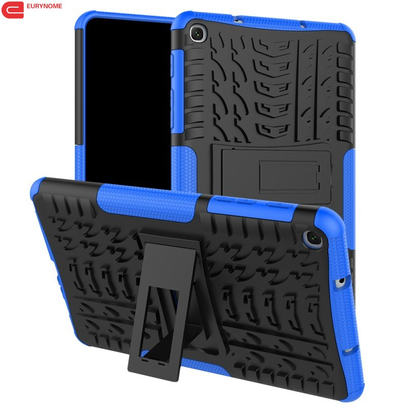 Case For <font><b>Samsung</b></font> Galaxy Tab A 8.0 2019 Case Armor Heavy Duty Stand Plastic ShockProof Cover for <font><b>Samsung</b></font> Tab A SM-P200 <font><b>P205</b></font> Case image