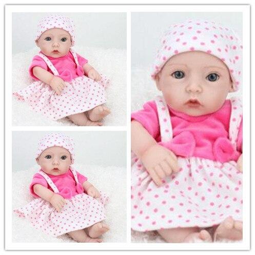 Silicone Reborn bébés corps entier mini reborn bébé poupées réaliste nouveau-né bébé en peluche animaux bébé poupées Reborn poupée jouets