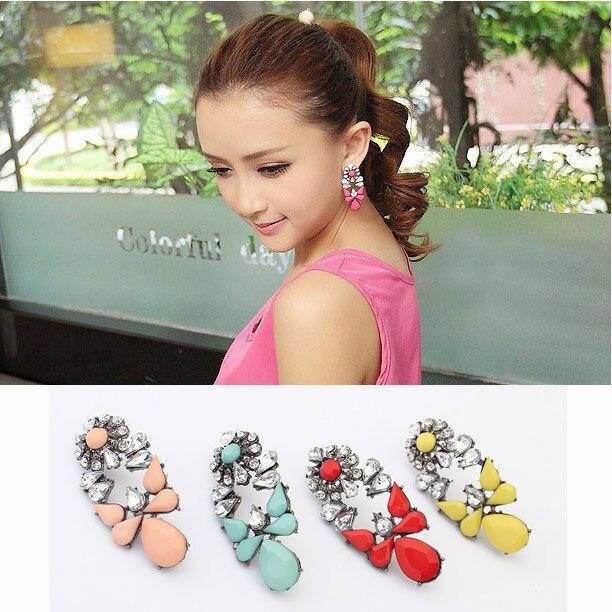New Design Bohemian Fashion Blue Gem Earrings Jewelry For Women Des Boucles Doreilles Bijoux ZC7P10C