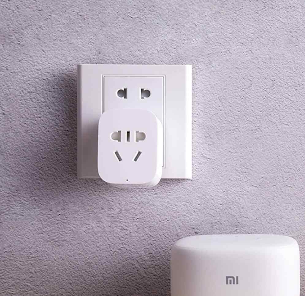 Оригинальный Xiaomi умная розетка Базовая WiFi беспроводной пульт дистанционного управления розетка адаптер питания и выключения с телефоном