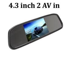 4.3 дюймов TFT ЖК-Экран 640×272 сзади Автомобиля обратный Монитор зеркала Резервного Копирования Камера заднего вида вспять приоритет
