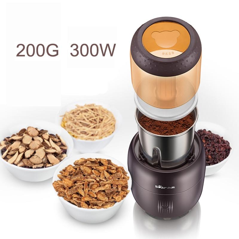 цена на 15% JA69 Portable Chinese Medicine Electric Grinder Food Grinding Machine Multifunctional Whole Grains Mill Powder 300W220V200G