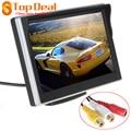Novo 5 Polegada TFT-LCD Digital Car Rear View Monitor de Lcd para VCD/DVD/GPS/Câmera com a Frente Diafragma