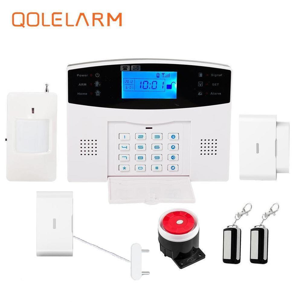 French Russian voice 433mhz GSM alarm systems home security kit APP phone remote control water leak sensor PIR motion sensor 433 mhz phone remote control smart home security alarm gsm alarm systems security sms with water leak sensor pir motion sensor