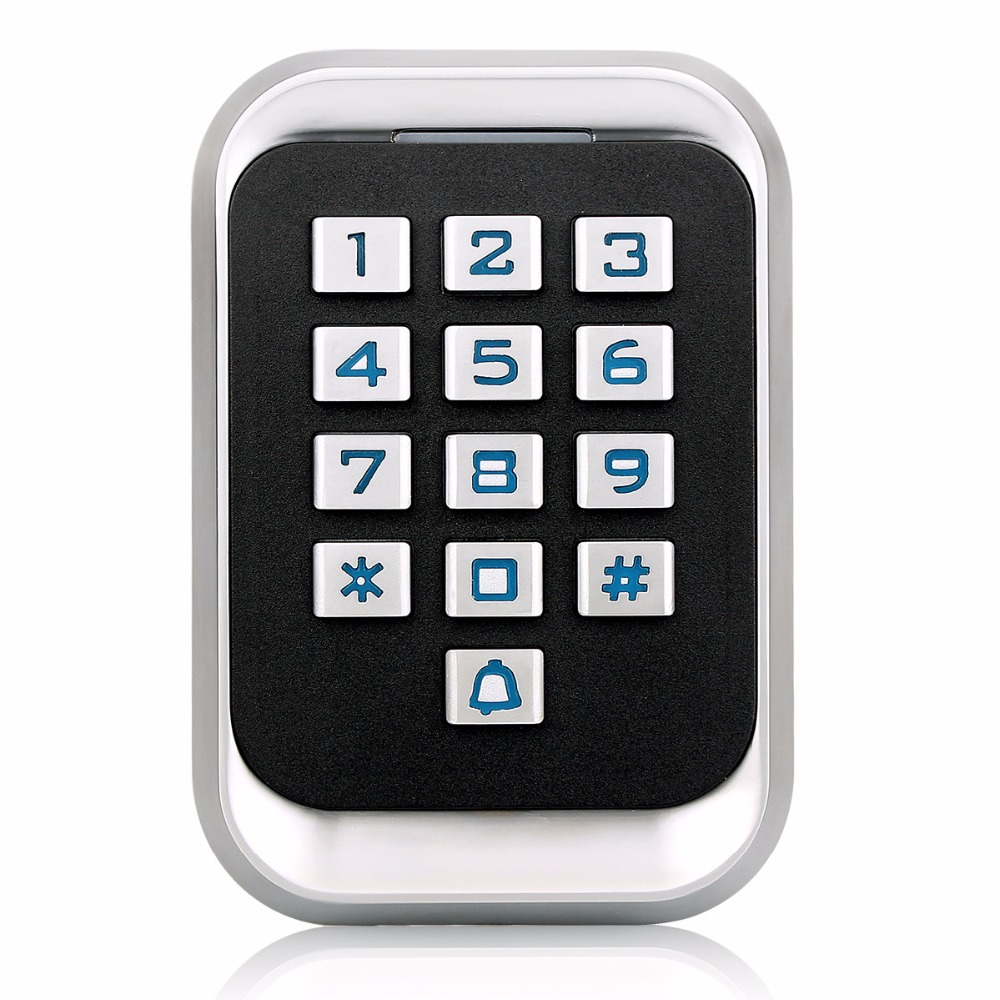 Waterproof IP68 Metal RFID ID Keypad Single Door Stand-alone Access Control&Wiegand 26 bit I/O Up to 2000 User Cards F1417D