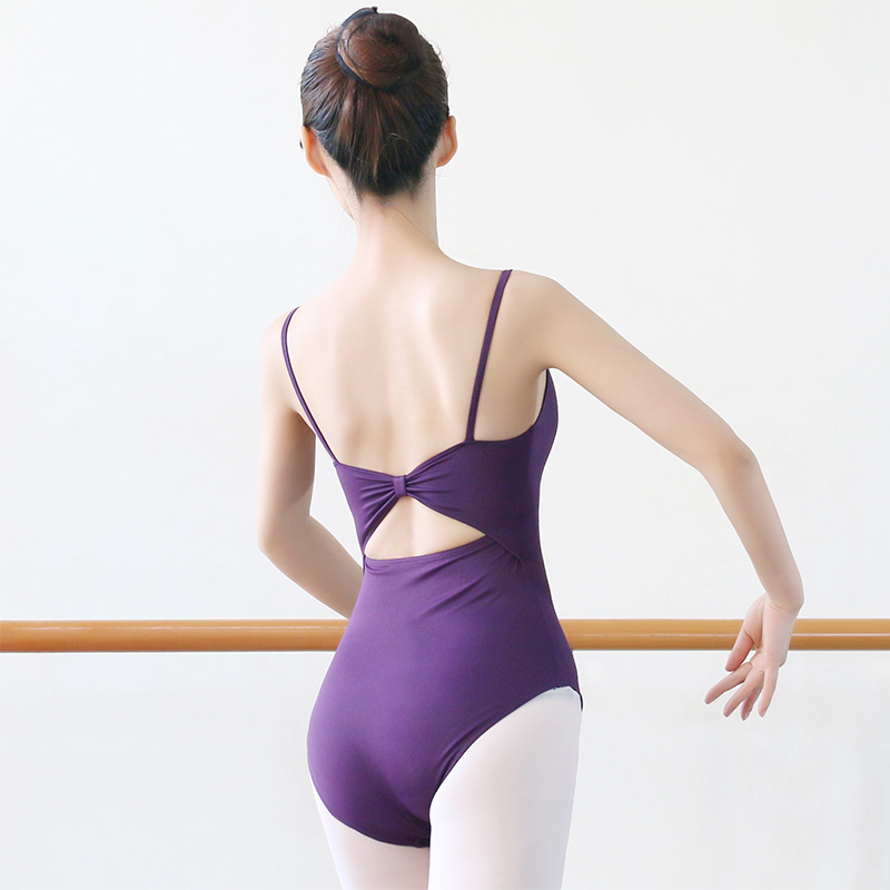 Ballet Leotard Practice Wear Women Deep Low Backless Dance Jumpsuit Girls Dancing Wear Leotard Padded Jumpsuit D-0620 Fine Workmanship Ballet Stage & Dance Wear