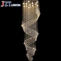 T best price k9 Crystal ceiling lights Long Suspension Wave Crystal Dining room Lamp mordern Droplight hot sale chandeliers