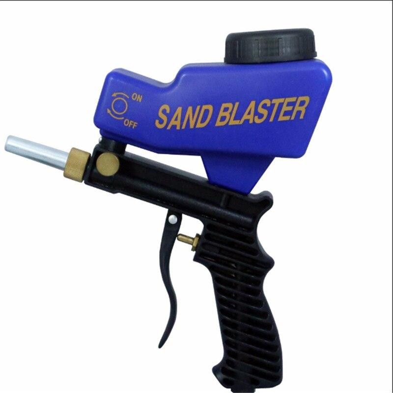 Portable Gravity Sandblasting Gun Pneumatic Sandblasting Set Rust Blasting Device Small Sand Blasting Machine Dropshipping