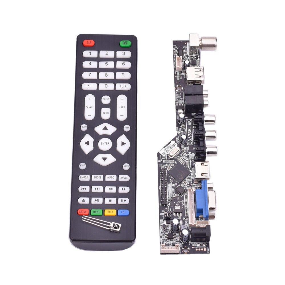 V53 universal TV lcd control board 10-42inch lvds driver board TV VGA AV HDMI USB DS.V53RL.BK support 1920x1080  TSUMV53RUULV53 universal TV lcd control board 10-42inch lvds driver board TV VGA AV HDMI USB DS.V53RL.BK support 1920x1080  TSUMV53RUUL
