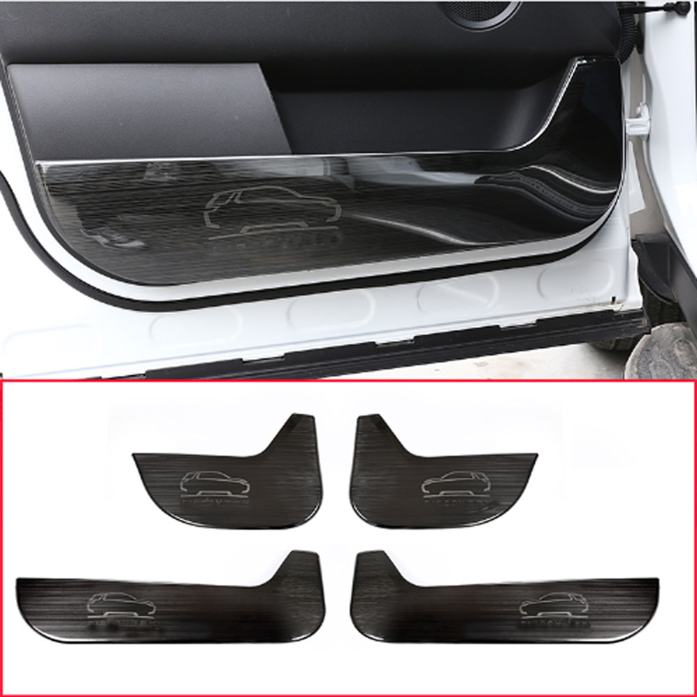 For Land Rover Discovery Sport 2015 2016 2017 304 Stainless Steel Interior Door Protection Panel Cover Trim 4Pcs lapetus for land rover discovery sport 2015 2018 interior styling console gear shift knob shifter panel decor frame cover trim