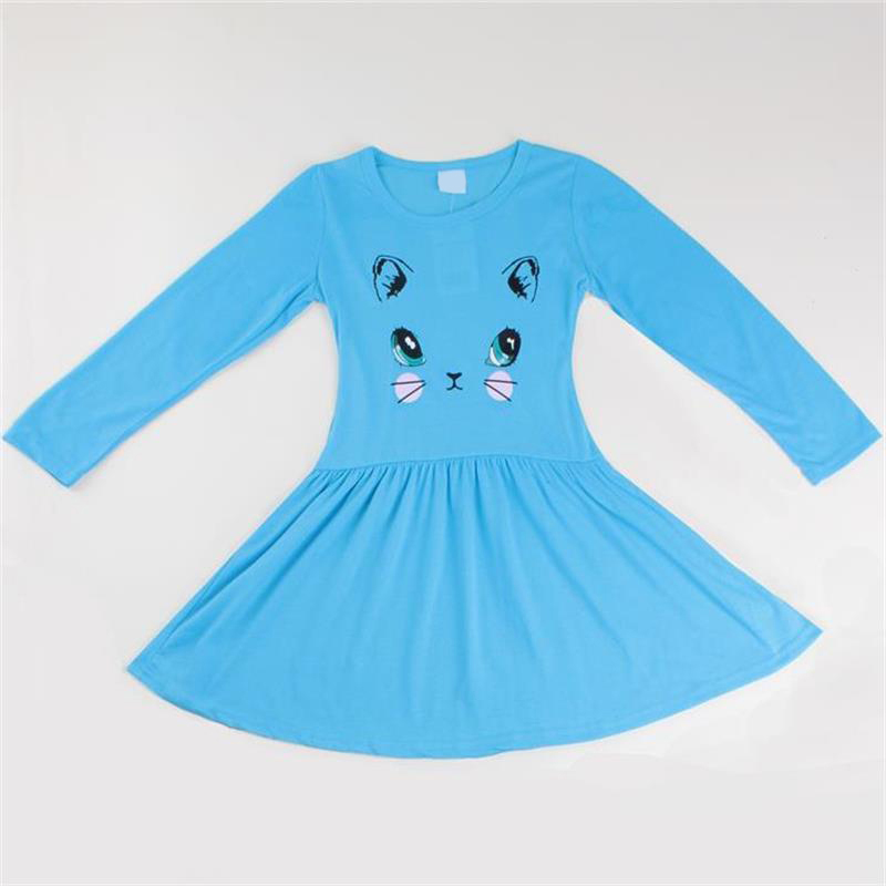 Autumn Kids Babys Gils Christmas Party Xmas Long Sleeve Swing Party Dress 1-6Y