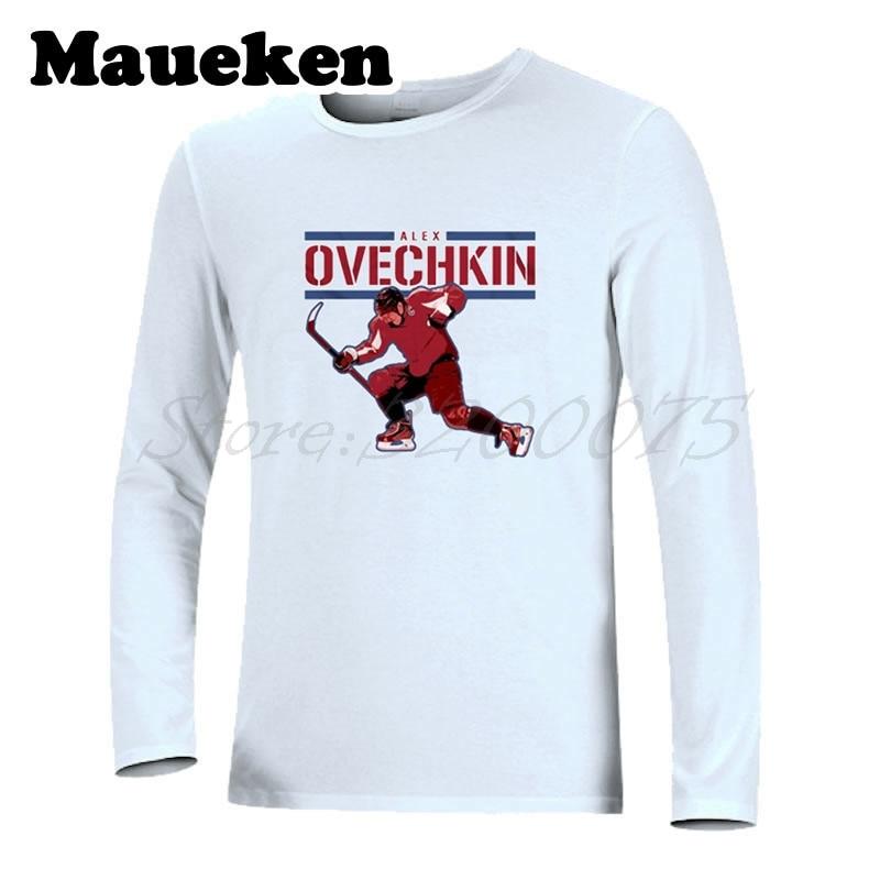 watch 010b6 f0f09 US $21.88 |Men's Autumn Winter Russia Men Washington #8 Alex Ovechkin T  Shirt Long Sleeve T SHIRT Painting Alexander Ovechkin W1205023-in T-Shirts  ...
