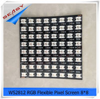 8*8 64LEDs WS2812B LED Flexible Pixel Screen,DC 5V RGB full color SMD WS2811 Built in control For Advertisement