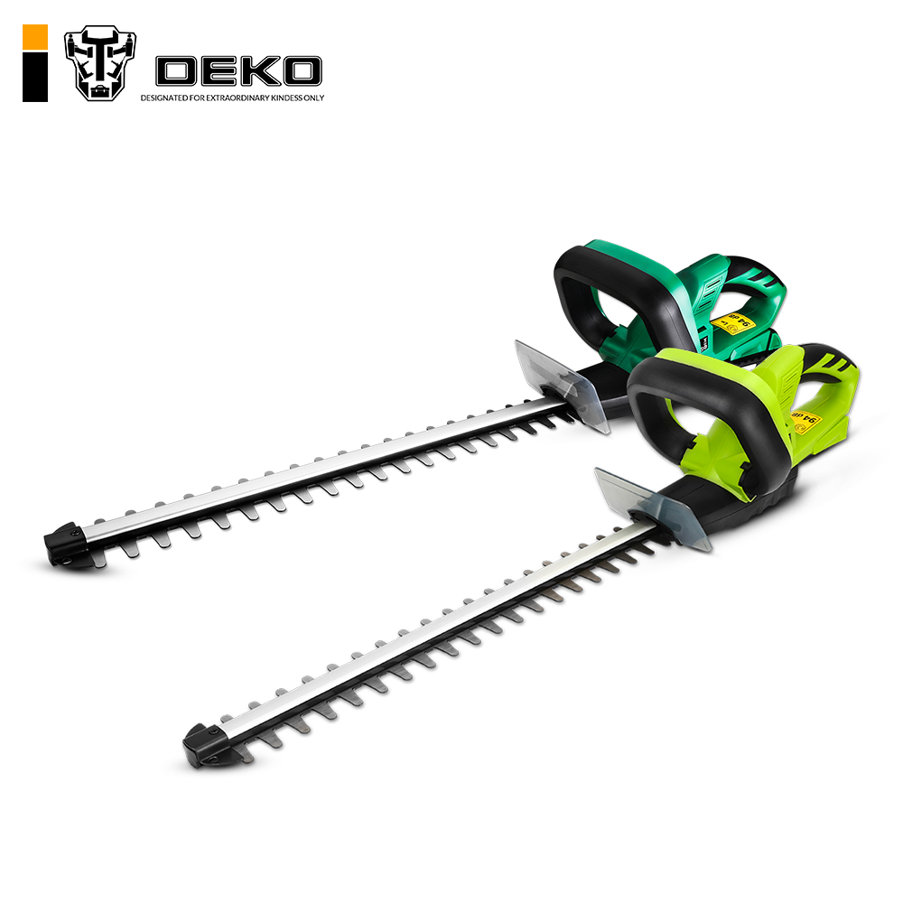 DEKO 20V Lithium 1500mAh Cordless Hedge Trimmer Quick Charge Rechargeable Electric Trimmer Pruning Saw with Dual