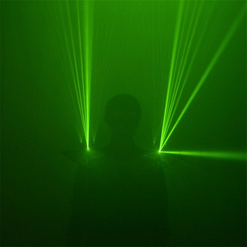 M65 Green laser beams light costumes dance show wears laser vest robot men rechargeable shoulder glowing laser man projector dj