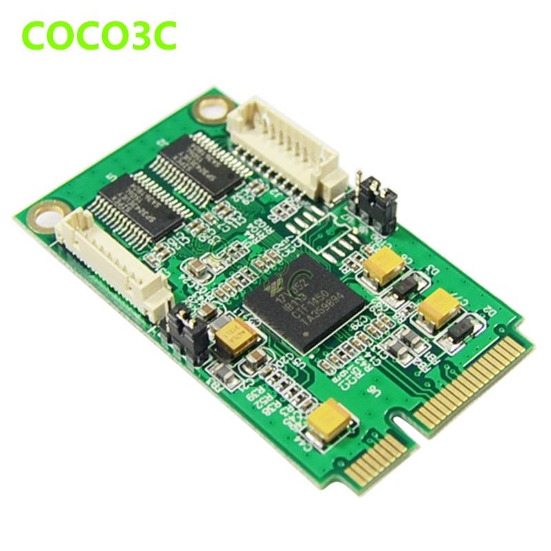 Mini PCIe 2 Seriële poorten Controller-kaart mini PCI-e naar DB9 - Computer componenten - Foto 4
