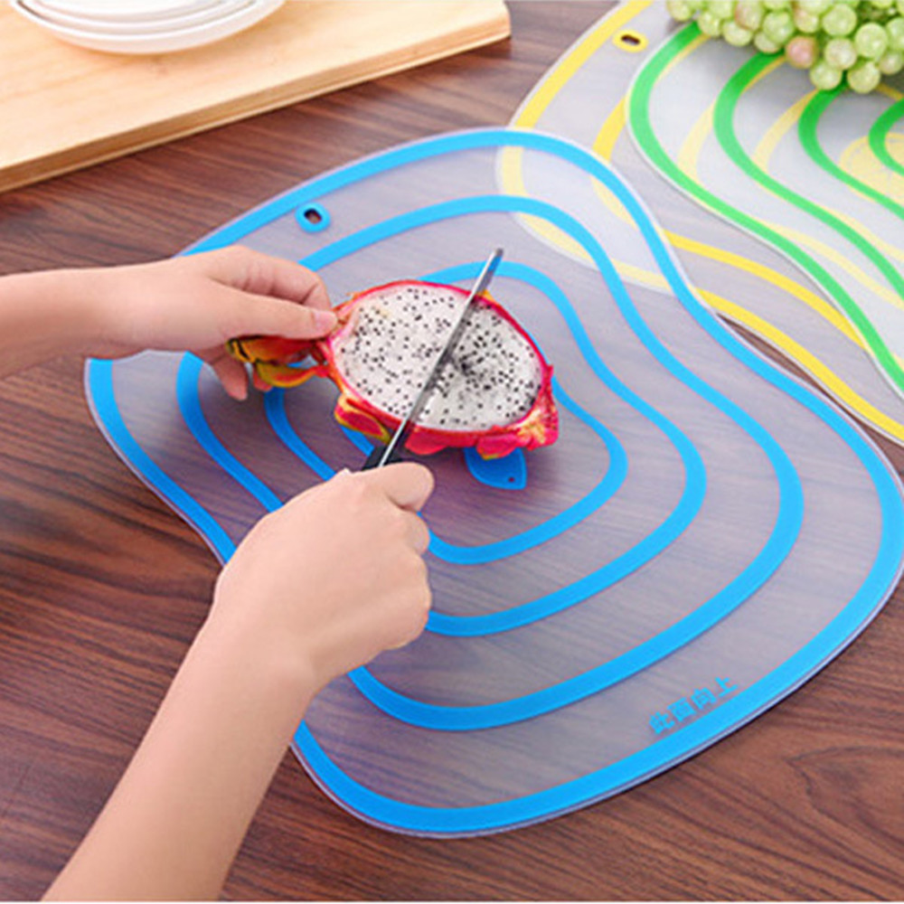 Chopping-Board Plastic Kitchen-Accessories Vegetable-Meat-Tools Frosted Non-Slip 1pc