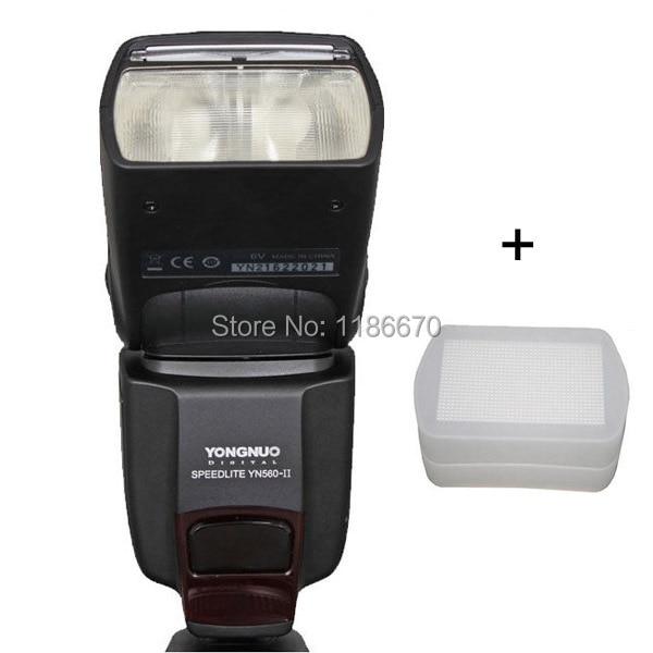 ФОТО Free Ship+Track YongNuo YN560II YN-560 YN560 II 2 YN-560II Flash Speedlite Speedlight For Canon Nikon DSLR Camera +Free Diffuser