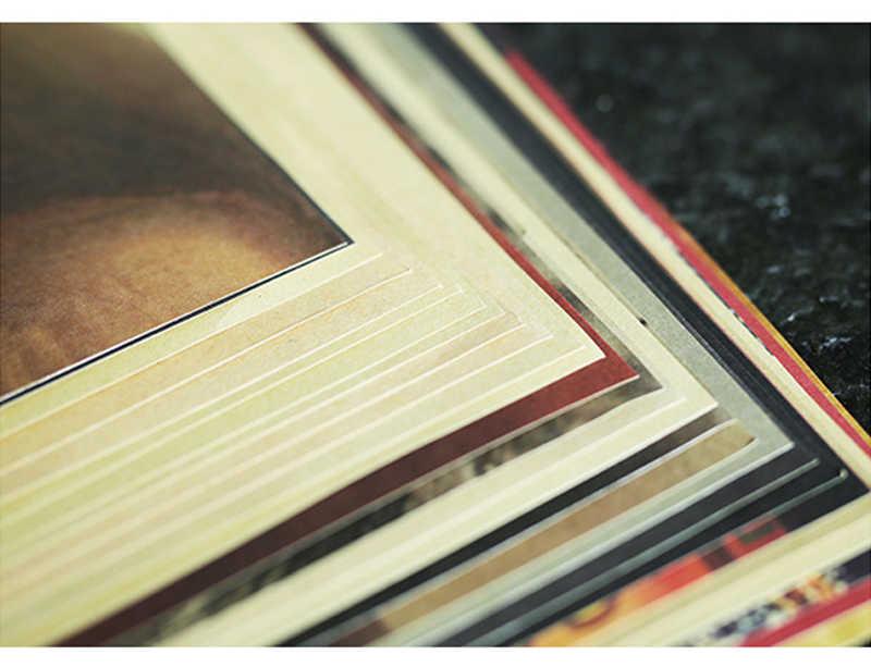 Dlkklb קלאסי נגד מלחמת פוסטר לשמור רגוע לשאת על בריטי מלחמת העולם השני קראפט נייר רטרו פוסטר תפאורה קיר מדבקת 51.5x36cm