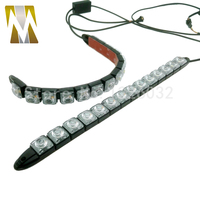 Car Flowing Style DRL White Amber 14 LEDs Daytime Running Light With Yellow Turn Signal Lights
