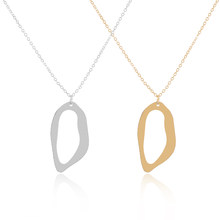 Simple Cute Oval Pendant Necklace Silver Gold color Charms Locket Necklaces  Women Men Fashion Memorial Jewelry Gifts ff00814cf35b