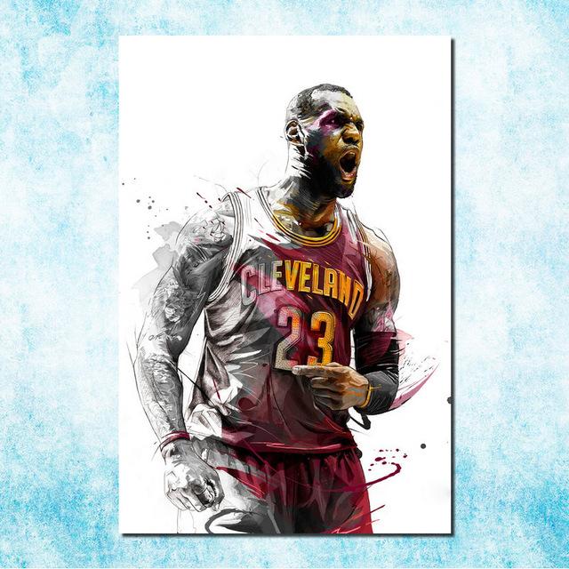 Nba Lebron James Lbj Cleveland Cavaliers 3 Art Silk Canvas Poster 13×20 32×48 Inch Basketball