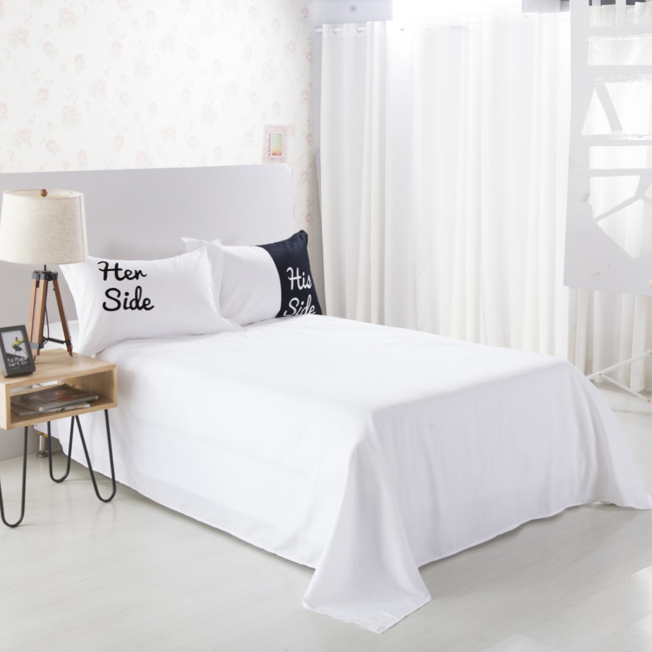 PanlongHome 3/4pcs Polyester/cotton Duvet Cover Set White Bed Sheets  Textile Couples Lovers Bedding Sets In Bedding Sets From Home U0026 Garden On  ...