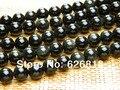 Envío gratuito ( 3 hilos / sistema ) natural 10 mm obsidiana cuentas de piedras redondas para la pulsera