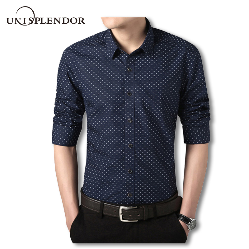 2018 New 100 Cotton Spring Shirts Men Slim Fit Mens Dress