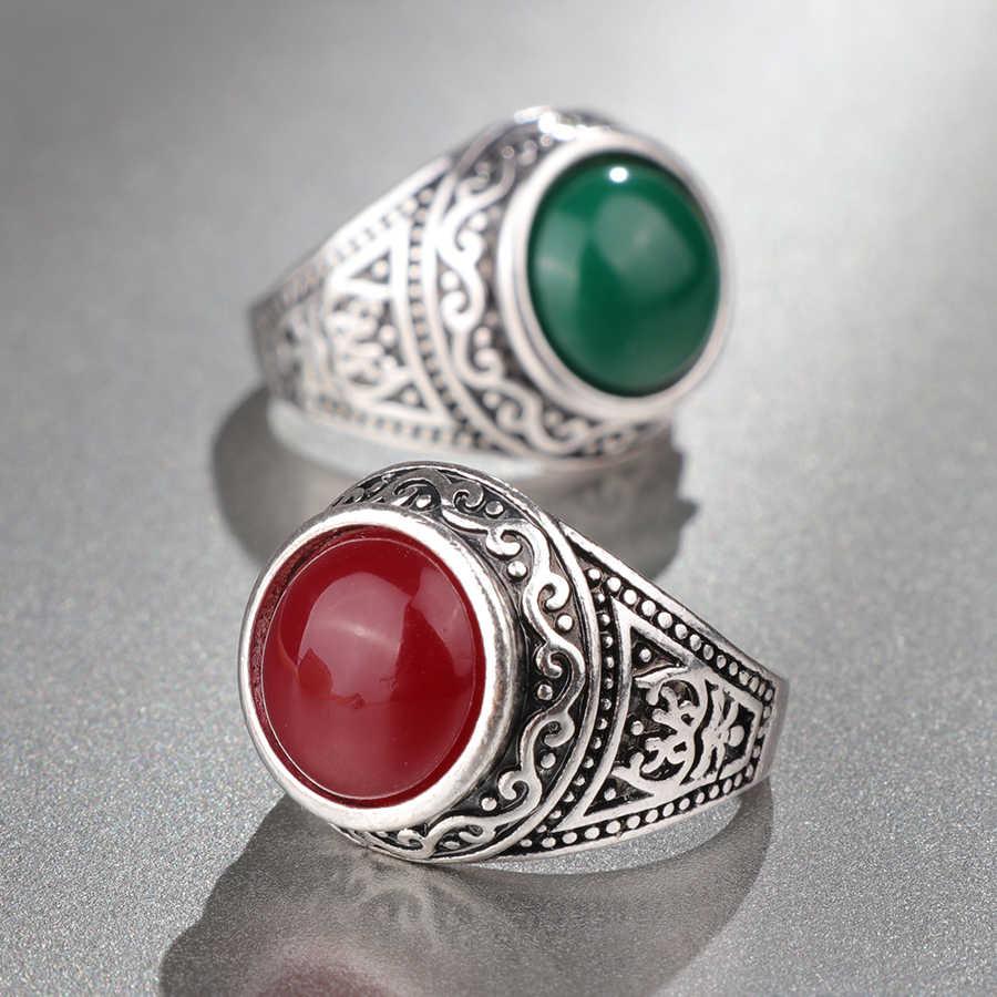Kinel Mode Dubai Gold Ring Männer Hochzeit Paty Zubehör Punk Schwarz Ring Vintage-Schmuck Großhandel 2018 Neue