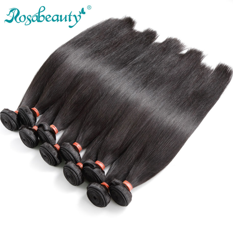 Rosa Beauty Hair Products 10Pcs/lot Brazilian Hair Weave Bundles Straight 100% Human Hair Weft Remy Hair Weaving 30 Inch