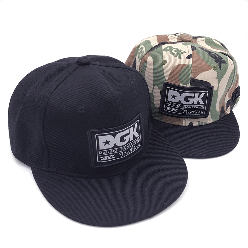 Brand DGK Snapback   Caps   Flat Hip Hop   Baseball     Cap   Casquette Gorras Hat Adult Camouflage Adjustable Planas Hats For Men Women