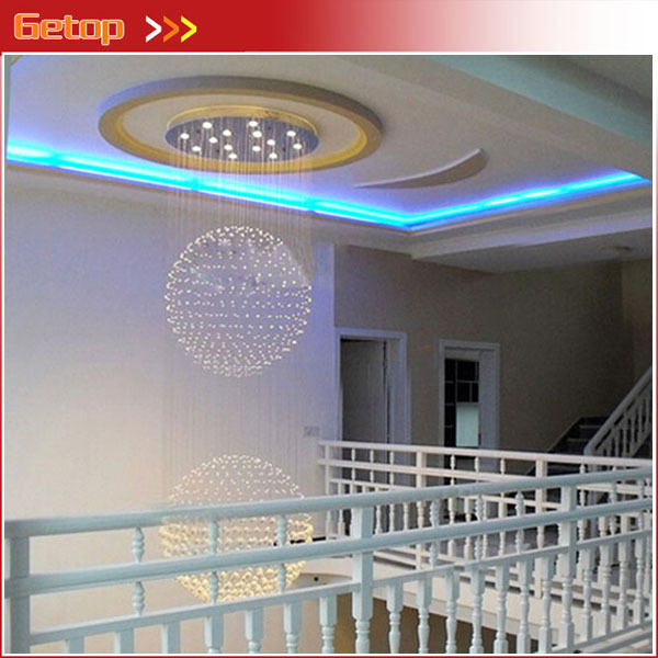 Best Price Modern LED Spherical K9 Crystal Lamp Duplex Stairs Luxury Villa Round Ball Crystal Pendant Lights Project Lights best price modern led spherical k9 crystal lamp duplex stairs luxury villa round ball crystal pendant lights project lights