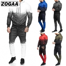 ZOGAA Casual Mens Set Tracksuit Outwear Sporting Track Suit Tops and Pants Long Sleeve Sweatshirts Men Tracksuits clothes men