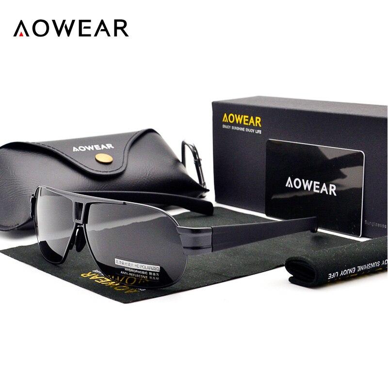 AOWEAR Klasické pánské sluneční brýle polarizované UV400 - Příslušenství pro oděvy