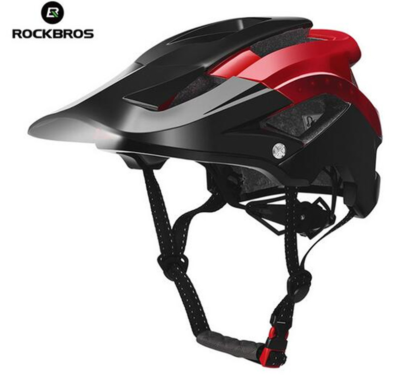 ROCKBROS Bicycle Safety Hat Bike Licht Helmet With Light MTB Road Cycling Integrally-Molded Men Women Bike Cap UltralightROCKBROS Bicycle Safety Hat Bike Licht Helmet With Light MTB Road Cycling Integrally-Molded Men Women Bike Cap Ultralight