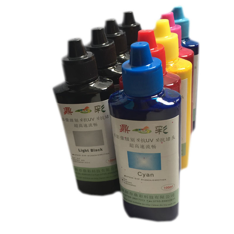 100ML/Bottle 9Colors Universal Pigment Ink For Epson SureColor P600 P800 Stylus Pro 3800 3880 Printer Refill Pigment Ink stylus pro 3800 3800c 3850 3880 3885 3890 cr sensor printer parts