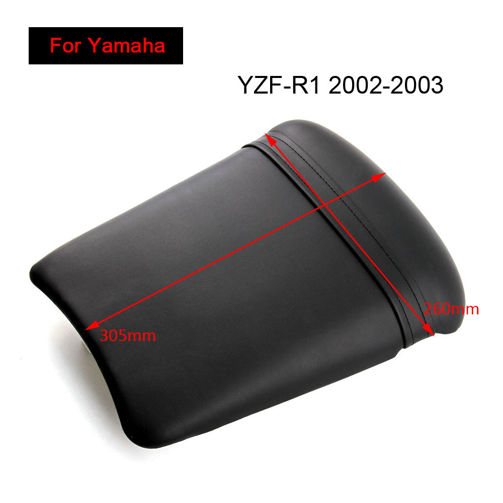 For Yamaha YZF R1 2002 2003 Rear Seat Cover Cushion Leather Pillow YZF R1 Motorcycle Passenger Seat