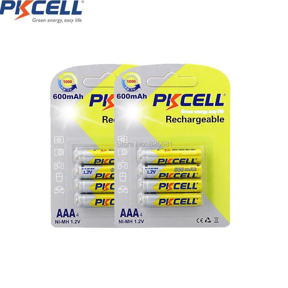 2Pack pkcell 600mAh AAA 1.2V Rechargeable NiMH <font><b>Battery</b></font> <font><b>600</b></font> <font><b>mAh</b></font> New for watches and camera ect Free ship!! Hot Sale