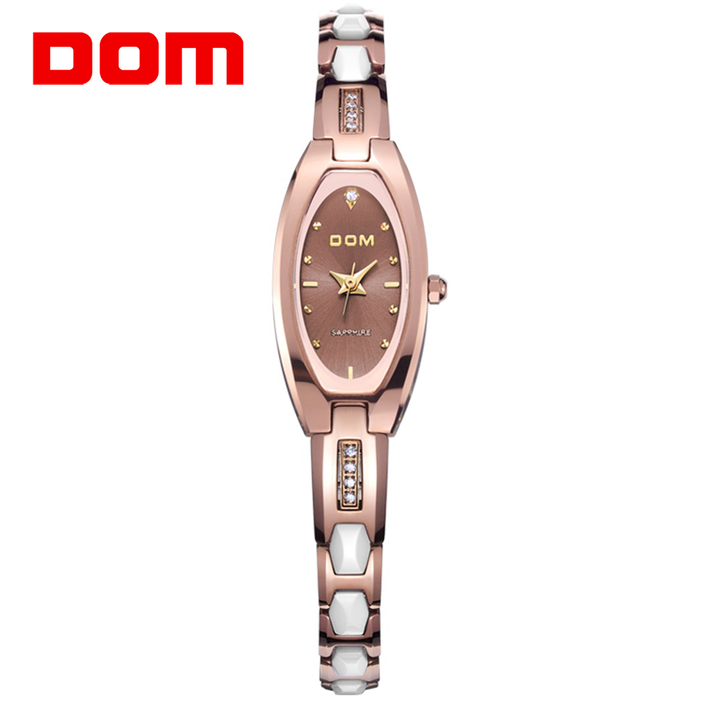 DOM Watch Women Fashion Luxury HK DOM Brand Top Tungsten Steel Watches Lady Quartz Wristwatches Dive 200m Clock Relogio Feminino free shipping 55w xenon hid kit lamp aluminum shell ballast 3000k 15000k dc car head light headlight for vw passat 2002 2010