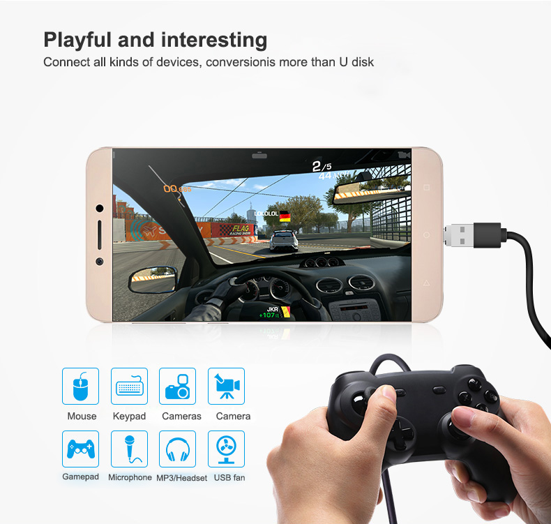 Proelio Tested Mini Micro USB to USB Connector OTG Cable USB OTG Adapter for USB Flash Drive for Samsung Android Tablet PC