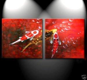 Abstracta moderna Art Koi Fish océano pintura al óleo