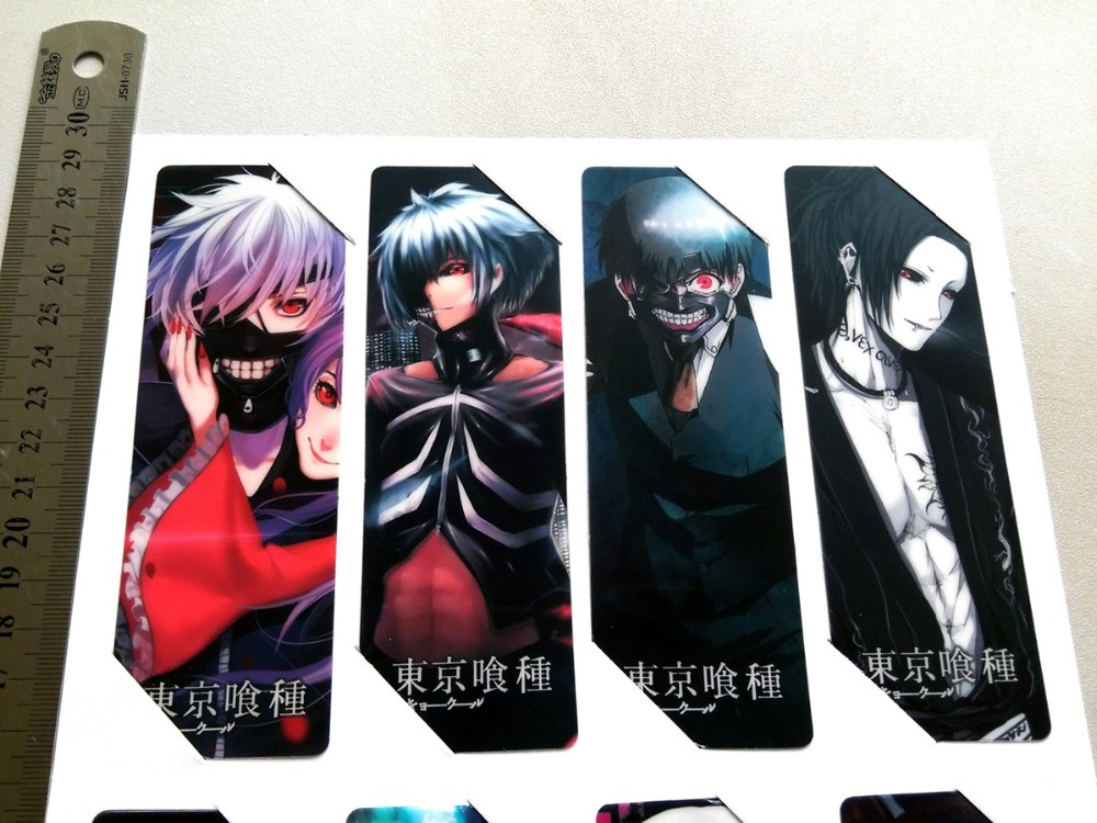 8pcsset pvc anime bookmarks printed with anime tokyo ghoul kaneki ken type a in bookmark from office school supplies on aliexpresscom alibaba group
