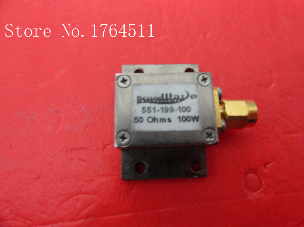 [BELLA] Broadwave 551-199-100 DC-12GHZ 100W SMA 50 Ohm Coaxial Precision Load  --2PCS/LOT